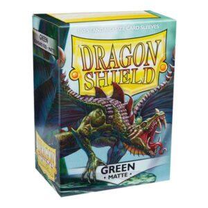 100 DRAGON SHIELD MATTE - GREEN