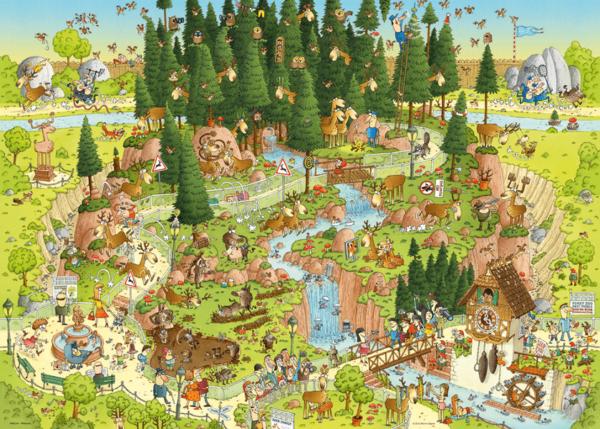PUZZLE HEYE - M. DEGANO : Habitat de la forêt noire - 1000 pièces