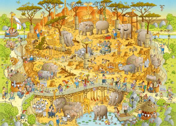 PUZZLE HEYE - M. DEGANO : Habitat Africain - 1000 pièces