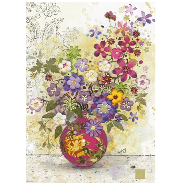 PUZZLE HEYE - J. CROWTHER : Vase Rose - 1000 pièces