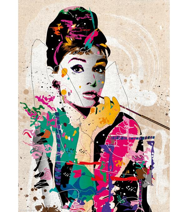 PUZZLE HEYE - J. CHEUK : Audrey Hepburn - 1000 pièces