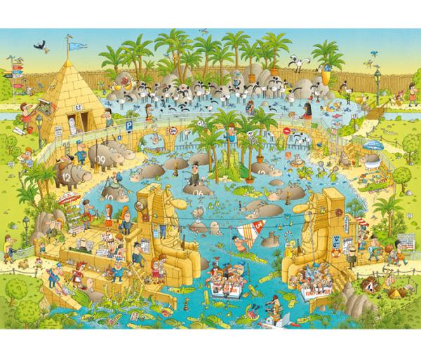 PUZZLE HEYE - M. DEGANO : Habitat du Nil - 1000 pièces