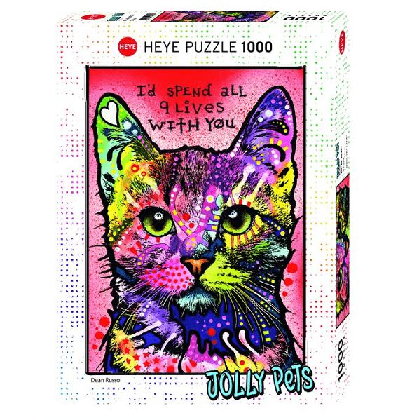 PUZZLE HEYE - D. RUSSO : 9 Lives - 1000 pièces