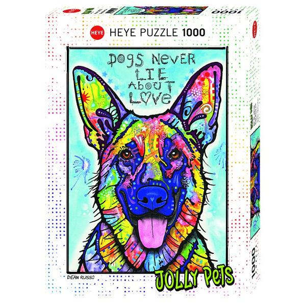 PUZZLE HEYE - D. RUSSO : Dogs Never Lie - 1000 pièces