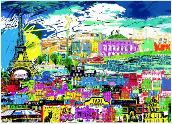 PUZZLE HEYE - K. McCALL : I love Paris! - 1000 pièces