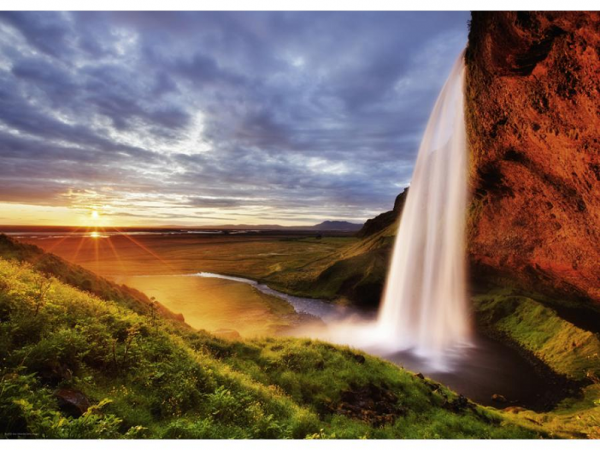 PUZZLE HEYE - A. VON HUMBOLDT : Chute d'eau de Seljalandsfoss - 1000 pièces