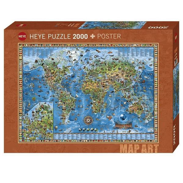 PUZZLE HEYE - R. ZIGIC : Amazing World - 2000 pièces