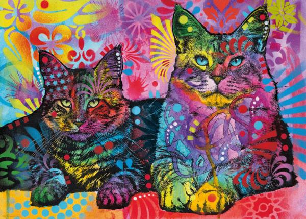 PUZZLE HEYE - D. RUSSO : Devoted 2 Cats - 1000 pièces