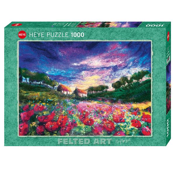 PUZZLE HEYE - M. MACKAY : Coucher de soleil sur tournesols - 1000 pièces