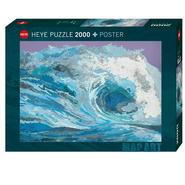 PUZZLE HEYE - M. CUSICK : Map Wave - 2000 pièces