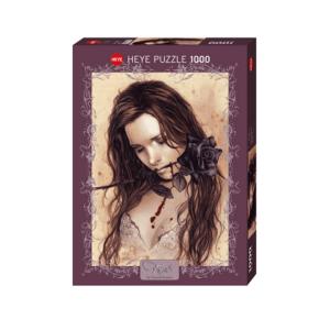 PUZZLE HEYE - V. FRANCES : Rose Noire - 1000 pièces