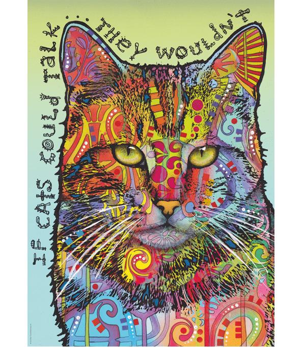 PUZZLE HEYE - D. RUSSO : Si les chats pouvaient parler - 1000 pièces